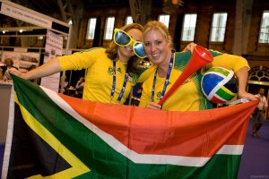 South African Cheerful Delegates