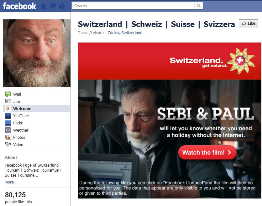 Switzerland facebook friends