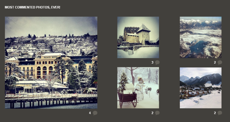 INSTAGRAM- MOST COMMENTED PHOTOS#WINTERSLOVENIA